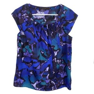 The limited watercolor cap sleeve blouse shirt